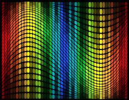 illustrazione vettoriale multicolore grafico equalizzatore astratto