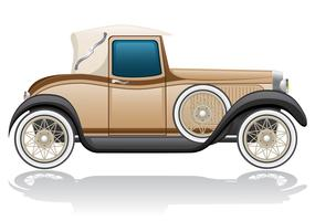 vecchia illustrazione vettoriale auto retrò