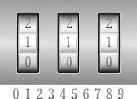 illustrazione vettoriale di serratura a combinazione