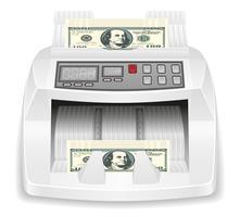 illustrazione di stock di denaro contatore vettore