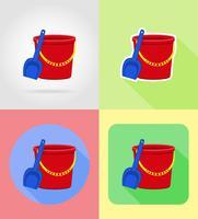 le icone piane dei giocattoli e degli accessori di vettore vector l'illustrazione