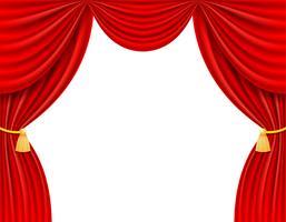 illustrazione vettoriale tenda rossa teatrale