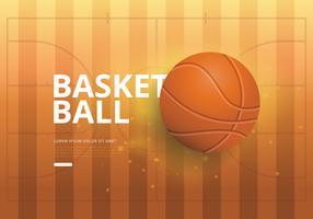 Illustrazione realistica di pallacanestro