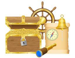 illustrazione vettoriale di antico tesoro
