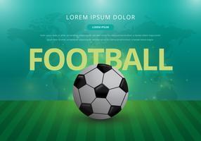 Illustrazione realistica di calcio