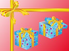 due scatole per regali vettore