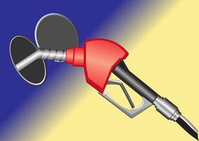 ugello della pompa del gas vettore