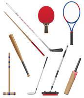 bit e bastone per lo sport illustrazione vettoriale