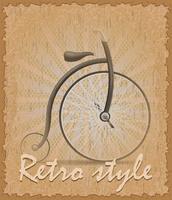 illustrazione di vettore di bici vecchio poster di stile retrò