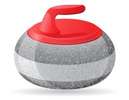 pietra per il curling illustrazione vettoriale gioco di sport