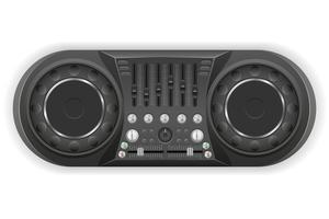 illustrazione di vettore del mixer del suono della console del pannello del DJ