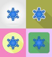 le icone piane del nuovo anno e di natale vector l'illustrazione