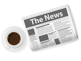 tazza di caffè e giornali