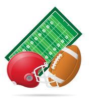campo per l'illustrazione di vettore di football americano