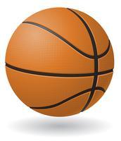 illustrazione vettoriale palla da basket