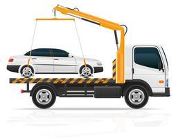 rimorchio per difetti di trasporto e illustrazione vettoriale di auto di emergenza