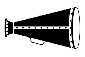 megafono vecchio retrò vintage icona illustrazione vettoriali stock