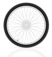 illustrazione vettoriale di bicicletta ruota