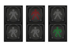 semaforo per illustrazione vettoriale pedoni