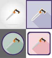 sega la riparazione e la costruzione di icone piane strumenti icone illustrazione vettoriale