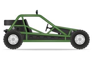 illustrazione vettoriale di buggy fuori strade auto atv
