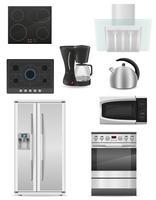 set di elettrodomestici da cucina illustrazione vettoriale