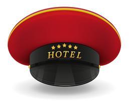 portiere uniforme professionista del cappuccio nell'illustrazione di vettore dell'hotel