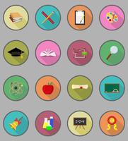 icone piane di educazione scolastica illustrazione vettoriale