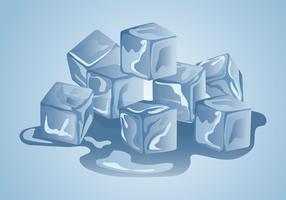 clipart del cubo di ghiaccio vettore