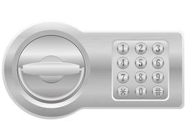 illustrazione vettoriale di serratura elettronica