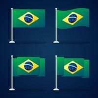Insieme di elementi di vettore di bandiera Brasile