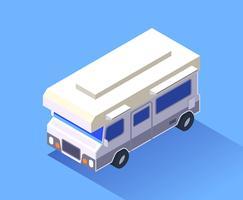 Set di clipart di trasporto isometrica vettore