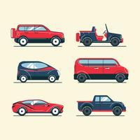 Set di mezzi di trasporto vettore