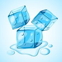 Vettore del clipart del cubetto di ghiaccio