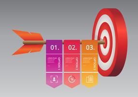 Cooperare obiettivi, Target Team Infographic. vettore