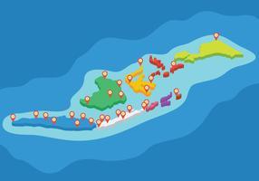 Mappa 3D Indonesia