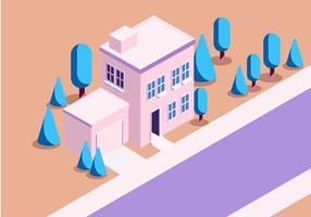 Illustrazione vettoriale di casa isometrica