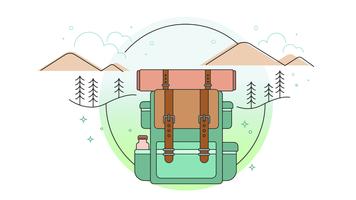 Vettore di viaggio Backpacking