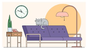 Vettore di design del soggiorno