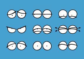 Insieme dell'icona del carattere degli occhi del fumetto