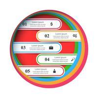 Illustrazione di vettore di stile di origami di Infographics di affari.