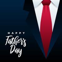 Illustrazione felice della cravatta di festa del papà vettore