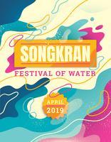Festival dell'acqua Songkran vettore