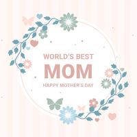 Cartolina d'auguri di festa della mamma di vettore