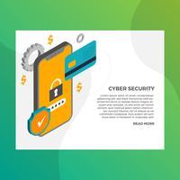 illustrazione di sicurezza informatica mobile sicura vettore