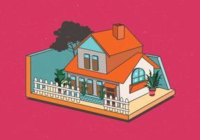 Casa isometrica vettore