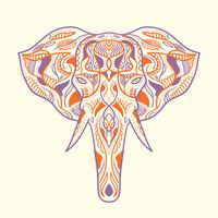 Illustrazione di elefante dipinto