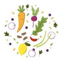 Vettore di cibo sano