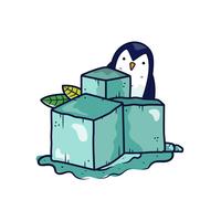 Fumetto di vettore del cubo di ghiaccio