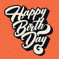 Disegno vettoriale di buon compleanno tipografia